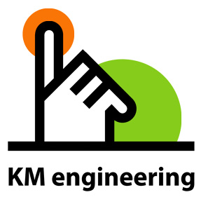 Логотип компании «KM Engineering»  KM Engineering