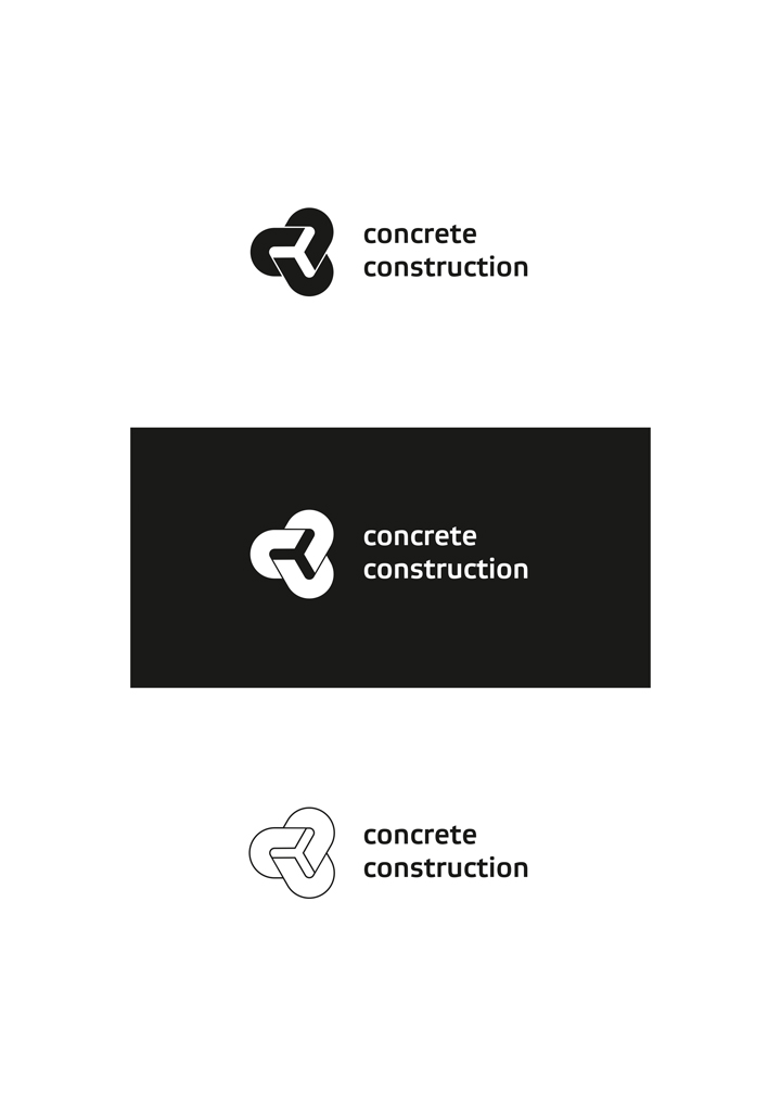 Монохромное исполнение логотипа Concrete Construction