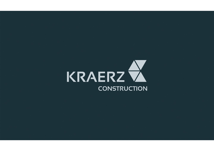 Инверсионная версия логотипа Kraerz construction
